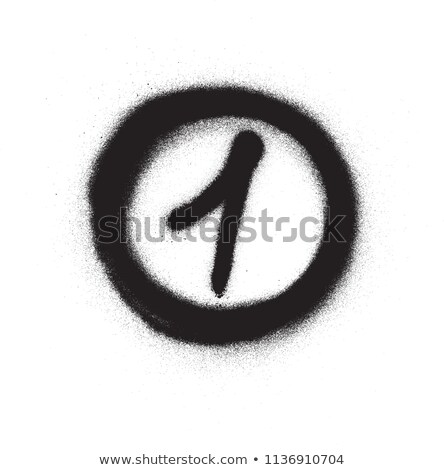 Graffiti cirkel zwart wit graffiti splatter Stockfoto © Melvin07