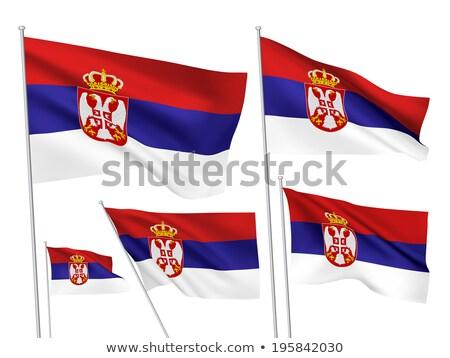 Balkan States Waving Flag Set Stock photo © nazlisart