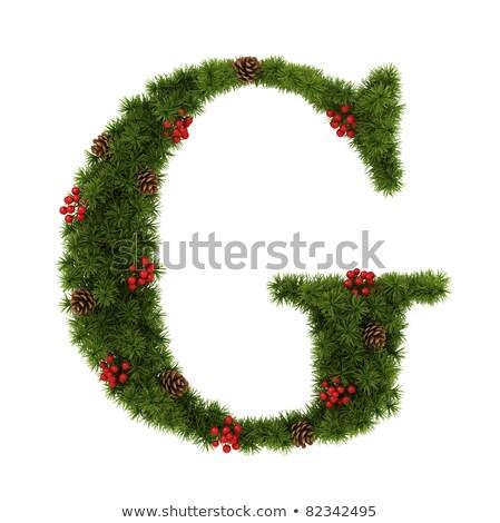 Noel alfabe mektup g yalıtılmış beyaz doku Stok fotoğraf © grafvision