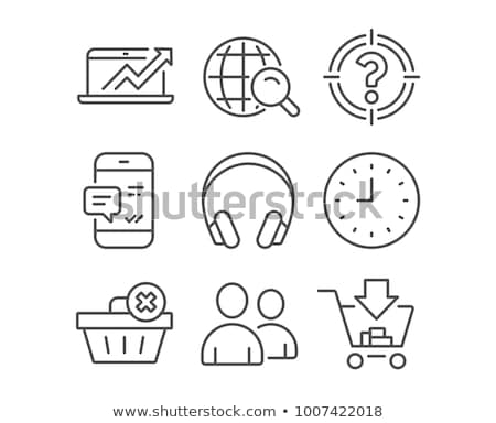 Messaging and Calling or Internet Search Icons Stock photo © robuart