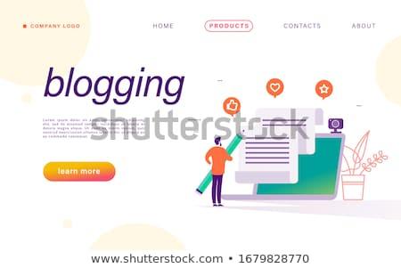 Redaktor farbują napisany strona duży Zdjęcia stock © robuart