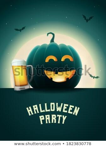 Cartoon bat pijany strony ilustracja hat Zdjęcia stock © cthoman