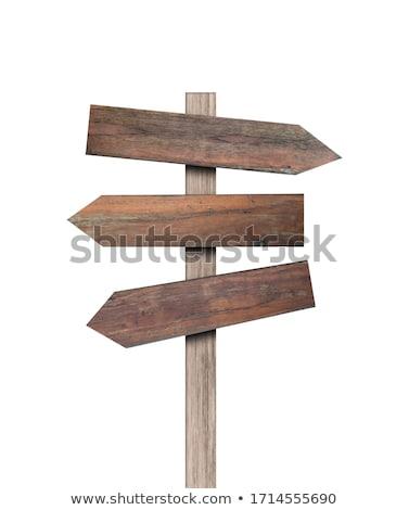 木製 道路標識 パターン にログイン 2 ストックフォト © sharpner