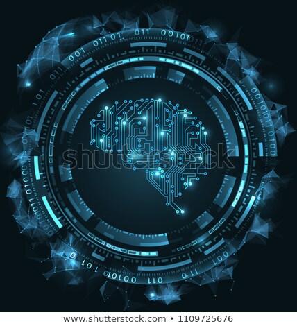 Cérebro circuito textura inteligência artificial ilustração vetor Foto stock © smeagorl