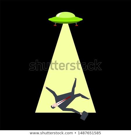 Ufo işadamı patron ofis hayat adam Stok fotoğraf © MaryValery