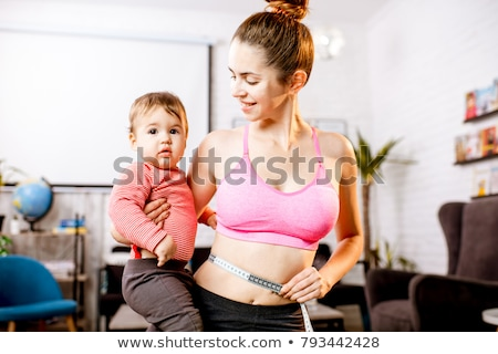 Female body after pregnancy Stock photo © Tefi