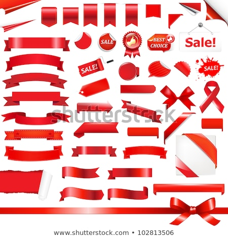 Big Set Red Ribbons Stock photo © cammep