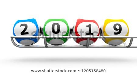 Lottery balls 2019 frame Stock photo © Oakozhan