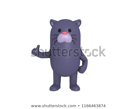 Cartoon Panther Love Stock photo © cthoman