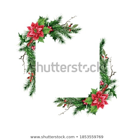watercolor cone christmas decoration isolated on a white background stock photo © natalia_1947