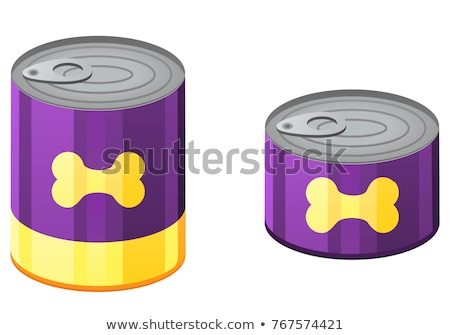 Set of canned pet food Stock photo © bluering