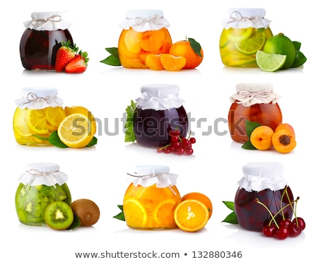 Oranges and Peaches Preserved Food in Jar Set Stock photo © robuart