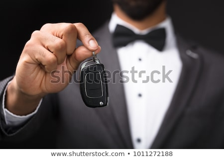 Waiter Hand Holding Car Key Stock photo © AndreyPopov