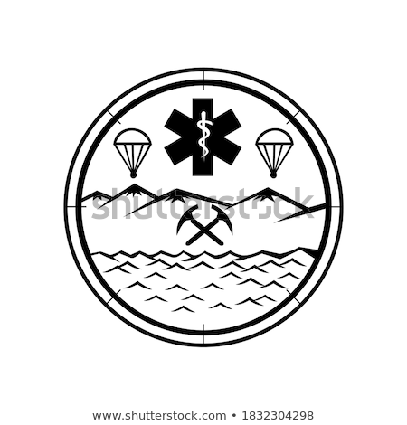 Terres mer air sauvetage icône mascotte Photo stock © patrimonio