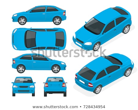 Car on road. Element of design. White back car on the street Stock photo © ruslanshramko