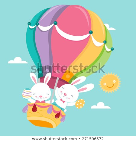 easter bunny with balloons image 2 stock photo © clairev