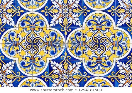Traditional Portuguese tiles Stock photo © homydesign