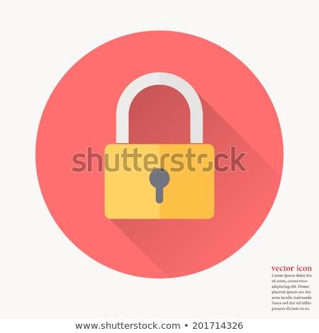 Kłódki wektora ikona odizolowany biały Zdjęcia stock © smoki