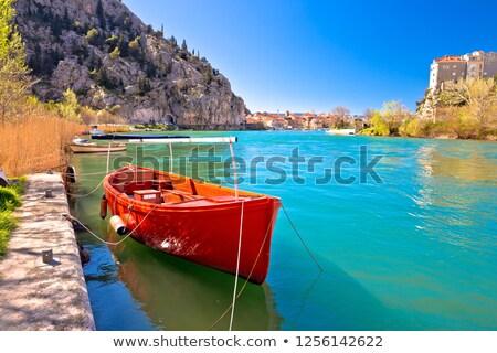 cidade · ver · rio · região · praia · água - foto stock © xbrchx