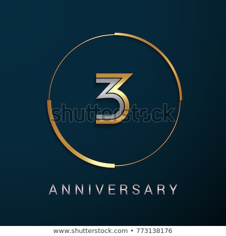 Number three multiplication circle Stock photo © colematt