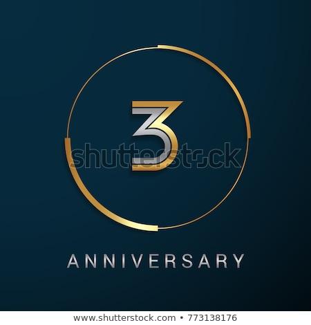 Aantal drie vermenigvuldiging cirkel illustratie licht Stockfoto © colematt