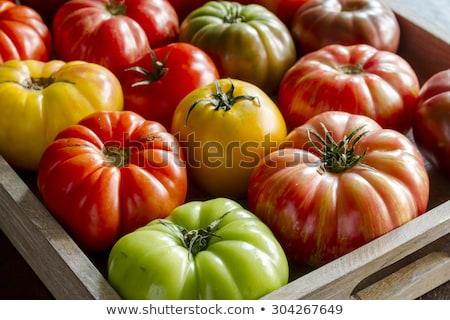 bois · boîte · fraîches · vigne · tomates - photo stock © Virgin