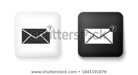 Black square button with white question mark sign, vector design for website. vector illustration is stock photo © kyryloff