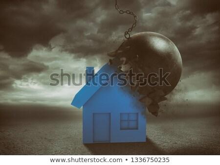 Ház rombolás labda erő otthon ép Stock fotó © alphaspirit