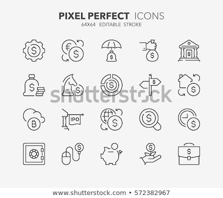 Investering icon dun lijn ontwerp business Stockfoto © angelp