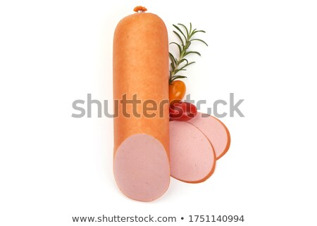 Boiled sausage isolated on white background stock photo © kayros