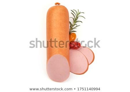Stock fotó: Főtt · kolbász · izolált · fehér · háttér · hús