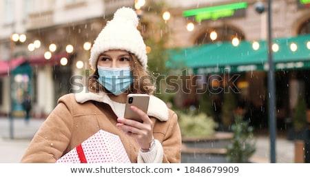 Stok fotoğraf: Kadın · Noel · hediye · açık · havada · kış