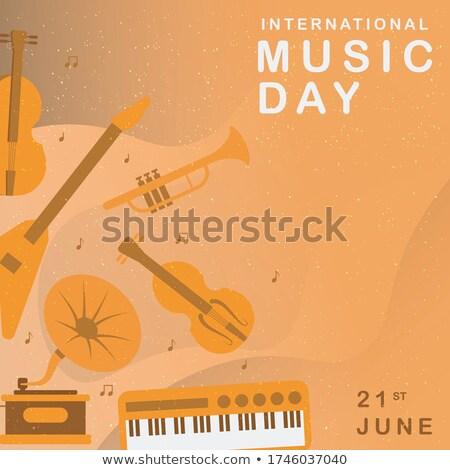 Feliz jazz día ilustración colorido teclas de piano Foto stock © cienpies