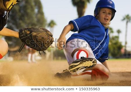 A female baseball player Stock photo © bluering