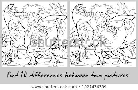 различный динозавр природы иллюстрация улыбка счастливым Сток-фото © colematt