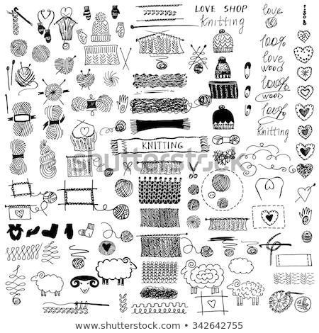 Knitting and crochet set Stock photo © netkov1