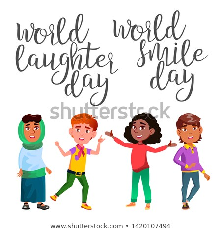 Calligraphy And Laughter Character Child Vector Stock photo © pikepicture