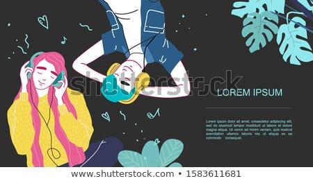 music lover character cartoon illustration Stock photo © izakowski