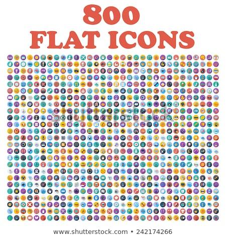 flat icons set of fitness sport stock photo © netkov1