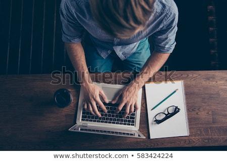 Férfi keres online információ komoly koncentrált Stock fotó © pressmaster