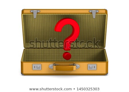 open travel bag and question mark on white background. Isolated  Stock photo © ISerg