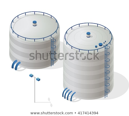 Water Treatment Big Tank With Ladder Vector Icon stock photo © pikepicture