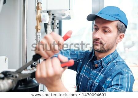 Contemporâneo jovem mecânico casa manutenção serviço Foto stock © pressmaster