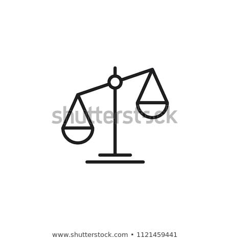 törvény · bíró · ikon · gyűjtemény · igazság · felirat · könyv - stock fotó © mark01987