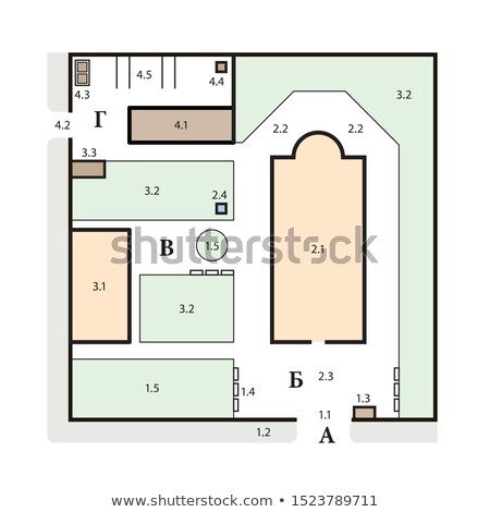 Typique architectural plan orthodoxe église complexe Photo stock © Glasaigh