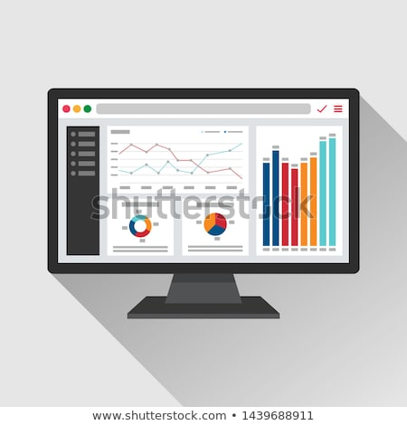 Computer Screen with Information and Charts Vector Stock photo © robuart