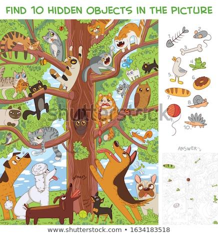 pädagogisch · Aufgabe · Vorschule · Kinder · Karikatur · Illustration - stock foto © izakowski