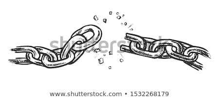 Quebrado metálico cadeia liberdade nosso vetor Foto stock © pikepicture