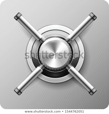 Vault with handle wheel - safe door, strongbox with rotary valve Stock photo © Winner