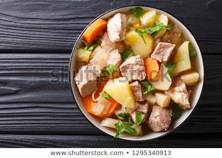 savoy cabbage stew or soup with chicken stock photo © brebca